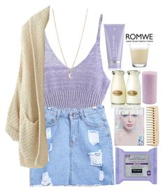 """""""#Romwe"""" by credentovideos ❤ liked on Polyvore featuring Kate Somerville, Minor Obsessions and Root Candles"""