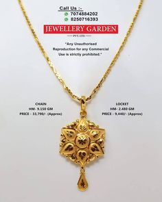 Gold Chain Design, Gold Jewellery Design, Gold Jewelry, Chain Jewelry, Jewelery, Gold Pendent, Gold Pendant Necklace, Pendant Set, Necklace Set
