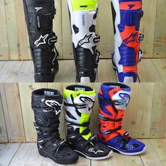 Discover Alpinestars Tech 7 Boots at Dirtbikexpress. Shop for the latest range of alpinestars tech 7 boots and tech 7 accessories available from Alpinestars. Dirt Bike Boots, Mx Boots, Dirt Bike Gear, Motocross Gear, Motorcycle Boots, Dirt Bikes, Plain Black, Black N Yellow, Equipement Cross