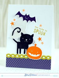 Too Cute To Spook Card by Betsy Veldman for Papertrey Ink (August 2014)