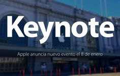 Apple anuncia Keynote para el próximo 8 de Enero