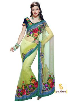 Pavitraa Pavitra Stylish Stunning Designer Saree With Unstitched Blouse