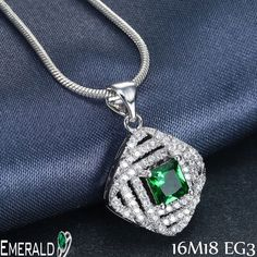 This decent looking emerald pendant can enhance your grace.