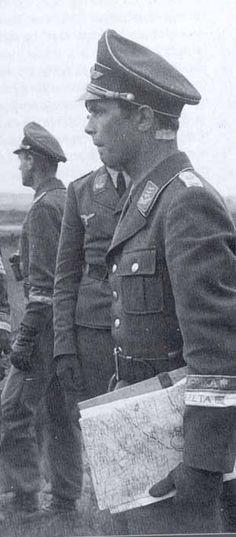 ✠ Horst Trebes (22 October 1916 – 29 July 1944) KIA near Carentan, South of Saint-Denis-le-Gast. RK 09.07.1941 Oberleutnant Führer III./Fsch.Jäg.Sturm.Rgt 1