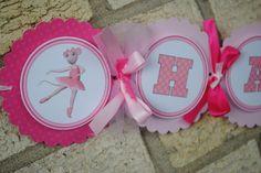 NEW - Angelina Ballerina Birthday Banner (XL) by mlf465 on Etsy https://www.etsy.com/listing/103330342/new-angelina-ballerina-birthday-banner