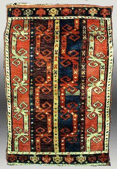 Knotted pile wool yastik, Turkey, 19th century. Private collection