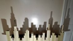 Kids love to make shadows. Here's a fun project to make a cool silhouette of the New York City skyline using a set of wooden blocks. Great project for kids to learn to copy patterns, and compare sizes and shapes, and they get to turn out the lights and make shadows! Find instructions at http://backtoblocks.com/blog/backtoblocks_blog_wooden_blocks_city_skyline_new_york_city_/