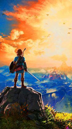 The Legend Of Zelda: Breath Of The Wild, Sonnenuntergang, Leinwanddruck The Legend Of Zelda, New Zelda, Legend Of Zelda Breath, Link Zelda, Wind Waker, Breath Of The Wild, Video Game Art, Video Games, Fotos Do Pokemon