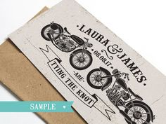 Biker Wedding Invitation  Rock & Roll Motor Bikes by STNstationery