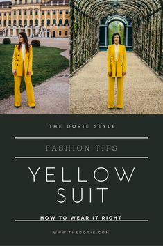 Already since last year, the color yellow sticks in the fashion trends and I'm totally liking it. So my this year's Easter outfit is not only incredibly elegant, but also a timeless eye-catcher. Yellow Suit, Color Yellow, Color Pop, Outfits Casual, Mein Style, Opus, Easter Outfit, Confident Woman, Elegant