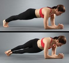 Standing on the elbows with the rotation of body to the side