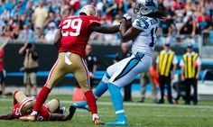 "Kelvin Benjamin says Panthers can score 60 or 70 points = In the post-game giddiness that followed the Carolina Panthers'46-27 victory against the San Francisco 49ers, wide receiver Kelvin Benjamin got more than a little carried away.  ""That could have been 60, maybe 70-something....."