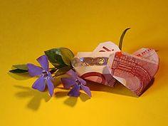 Herz als Geldgeschenk falten