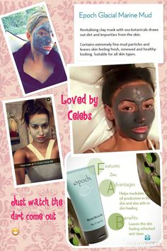 Even the celebs are using this amazing mud mask! Anti Aging Cream, Anti Aging Skin Care, Natural Skin Care, Epoch Mud Mask, Nuskin Toothpaste, Marine Mud Mask, Glacial Marine Mud, Skin Care Remedies, Quites