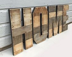 Pallet Letters. A to Z. 0 to 9. Rustic Letters. Marquee