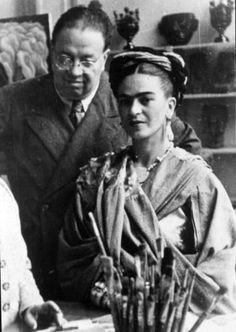 "Frida & Diego ""There have been two great accidents in my life. One was the trolley, & the other was Diego. Diego was by far the worst. "" Frida Kahlo.  Photo by Martin Munkácsi. Mexico, 1933. http://29.media.tumblr.com/tumblr_lxnt2iYlZr1qhpqsio1_400.jpg"