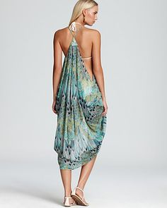 Mara Hoffman Feather Draped Dress Swimsuit Coverup | Bloomingdale's