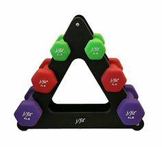 Dumbbells Set w/Durable Rack | Solid Iron Steel Design | Double Neoprene Coated Workout Weights Non-Chip and Flake | For Gyms, Pilates, MMA, Training, Schools, Rehabilitation Centers and More #dumbbells #workout #fitness #lifestyle