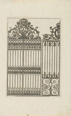 Hek met variant, Jean Lepautre, Anonymous, Reinier Ottens (I), 1726 - 1750