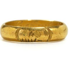 17th C. Memento Mori Skull Ring with Inscription. I would wear this, but I don't have $4000 to spend on it. And it's pretty much an open invitation to be haunted by angry 17th century ghosts.