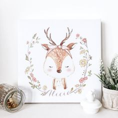 Good morning, lovely humans! Be kind to each other today. | Personalized Deer from the Friendly Creatures collection |