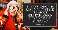 11 Inspiring Quotes from Fashion Icon Iris Apfel fashion quotes – Fashions Great Quotes, Love Quotes, Inspirational Quotes, Style Quotes, Women's Dresses, Dresses Online, Iris Apfel Quotes, Quirky Fashion, Fashion Fashion