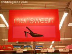 Menswear? I KNOW I saw the guy who wears these eating @ Maggiano's one night.  It's true!...ask my friend Sue.