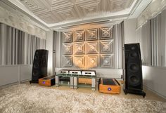 Audio Refinement listening/demo room. It uses a Totaldac d1-twelve DAC with server option and Tenor 350M monoblocks. The nice acoustic treatment is from SMT.