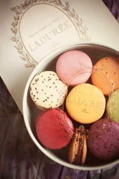 Laduree; can't wait to go to the one in Dublin. <3