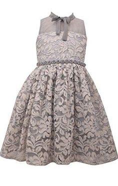 e56f4fb3721 Bonnie Jean Big Girl's 7-16 Beaded Waist Sleeveless lace Party Dress
