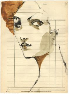 Tina Berning Found Art, Art Courses, Expressive Art, The Draw, Crayon, Face Art, Medium Art, Figurative Art, Art Images