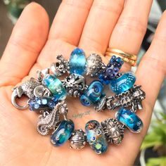 Deep Blue Sea ,  #trollbeads #annemeiborg #summersdaybeads #mandyramsdell #faerybeads #luccicare #michaelweihe