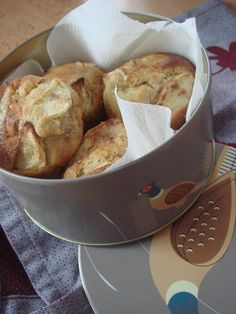 Muffins aux pommes, cannelle et huile d'olive