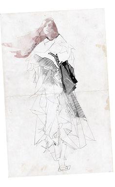 Fashion Sketchbook - fashion illustration; fashion collage; fashion portfolio // Shira Barzilay