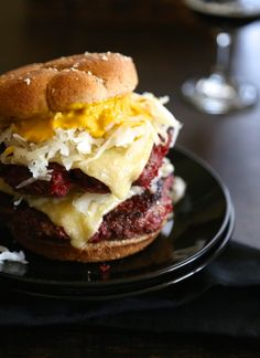 St. Paddy's Corned Beef Burgers with Irish Cheddar Cheese www.climbinggriermountain.com