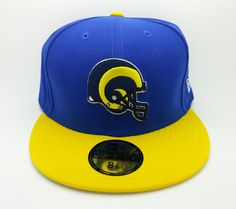 LOS ANGELES RAMS NFL NEW ERA 59 FIFTY LOGO FITTED HAT/CAP (SIZE 8 1/8)--NEW #NEWERA59FIFTY #LosAngelesRams
