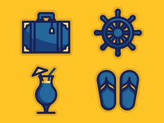Vacation icons by Brian K Gray
