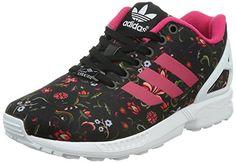 adidas ZX Flux, Damen Sneakers, Schwarz (Core Black/Vivid Berry S14/Ftwr White), 36 2/3 EU (4 Damen UK) - http://on-line-kaufen.de/adidas/36-2-3-eu-adidas-damen-zx-flux-sneakers