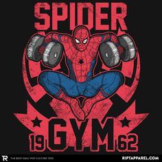 Spider Gym T-Shirt - Spider-Man T-Shirt is $11 today at Ript!