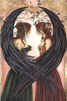 Sisters by Amy Brown. Reminds me of my sister and me!