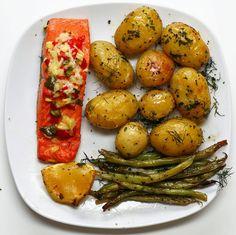 Salmon And Veggies Traybake
