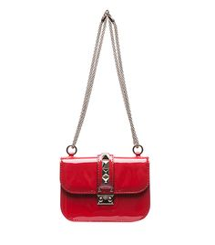 Valentino - Lock Small Flap Bag ($1945) in Red Patent