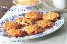 Mini Quinoa Pizzas
