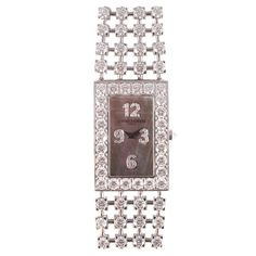 For Sale on - This stunning 18 karat white gold and carat diamond watch is absolutely gorgeous! By famed London designer, David Morris, these diamonds are beautifully Kate Middleton Wedding Dress, Most Beautiful Watches, Color Grading, Absolutely Gorgeous, 18k Gold, Jewelry Watches, David, White Gold, Wrist Watches