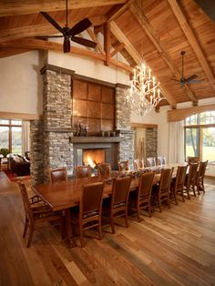 Extra Long Dining Room Table Design Ideas, Pictures, Remodel And Decor
