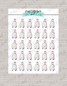 Cute suitcase travel planner stickers erin condren pink and white hearts kiki k filofax plum planner erin condren planner stickers
