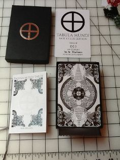 Tabula Mundi Nox et Lux 78 card edition Black and white indie deck.