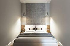спальня-ниша в интерьере квартиры-студии 30 кв. м.
