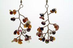 tourmaline, vine work.   my handcrafted jewelry