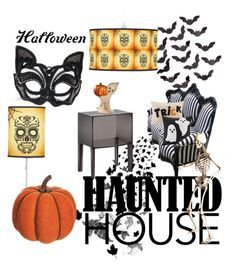 """""""My Haunted House"""" by moni-k23 ❤ liked on Polyvore featuring interior, interiors, interior design, home, home decor, interior decorating, Madison Park, Allstate Floral, Kartell and Bethany Lowe"""